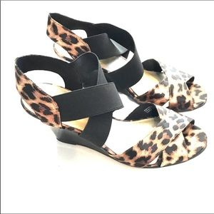 Shoes - Animal print sandals wedges size 9 predictions